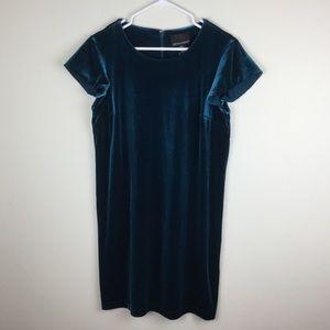 Cynthia Rowley Dark Teal Velvet Dress